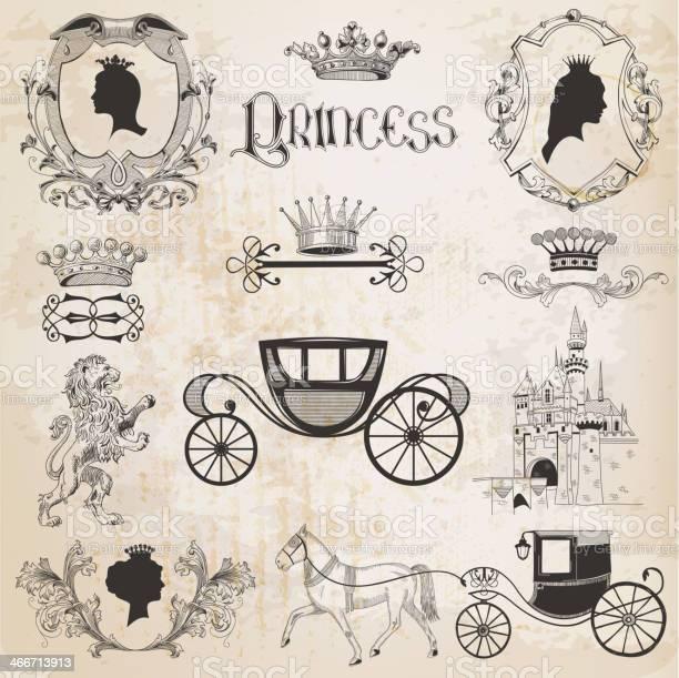 Vintage princess girl set vector id466713913?b=1&k=6&m=466713913&s=612x612&h=npg8hec2onwhayoh1q km liovqokyiyrfbzi mv5me=