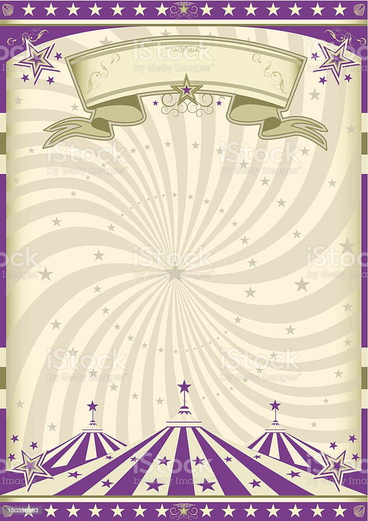 Vintage purple circus royalty-free stock vector art