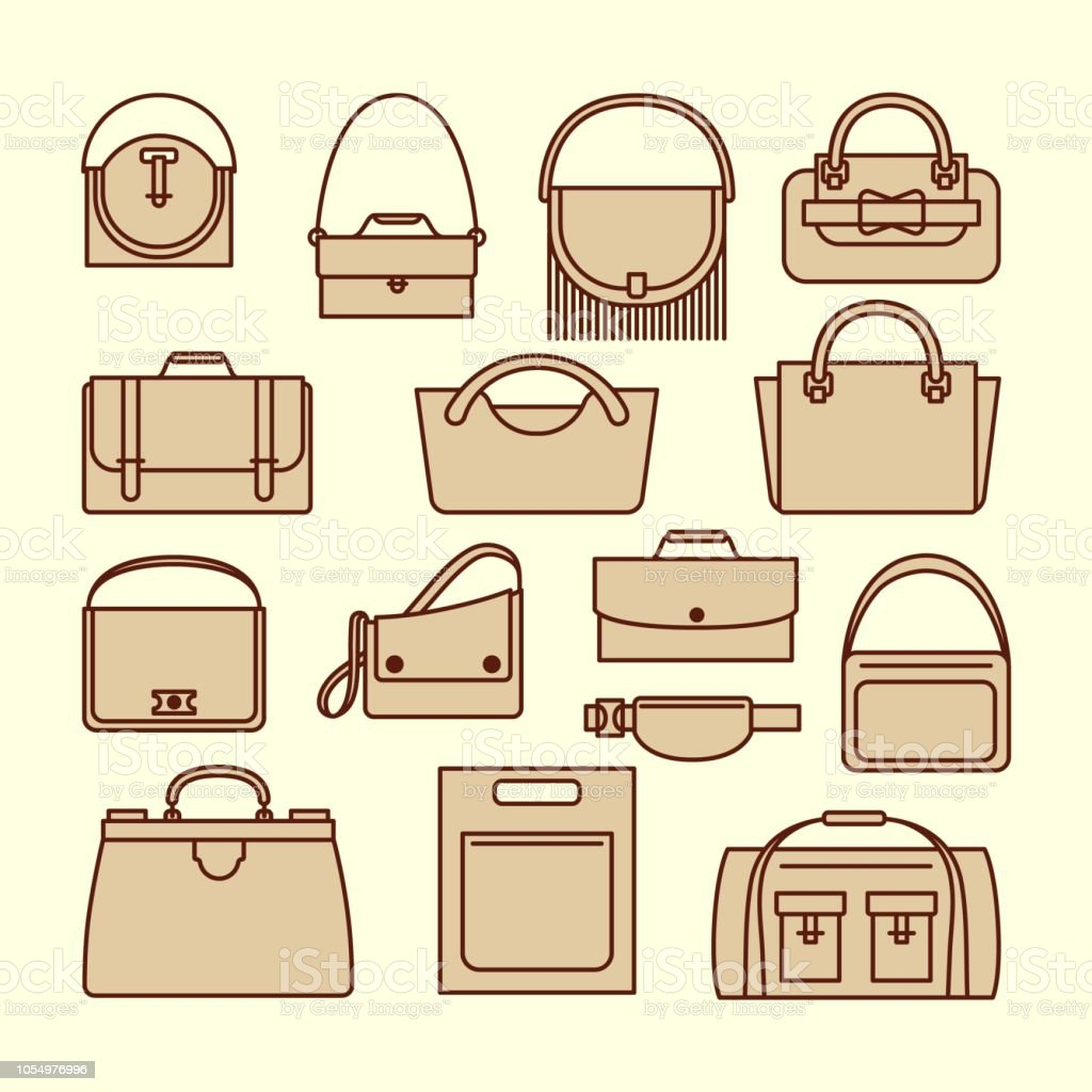 Vintage purses and bags set royalty-free vintage purses and bags set stock  vector art 5dd7d17204