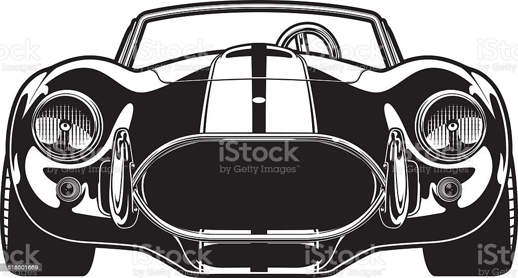 Vintage Race Car Stock Vector Art & More Images of Bumper 518501669 ...