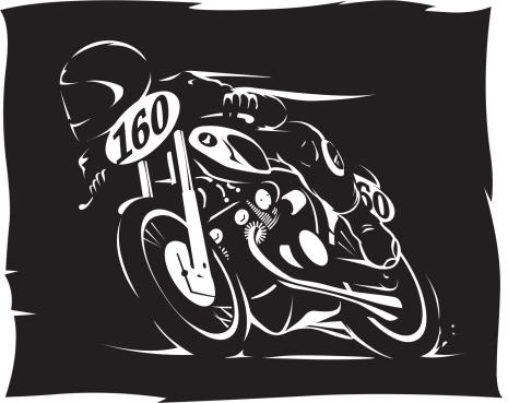 Vintage race motorcycle