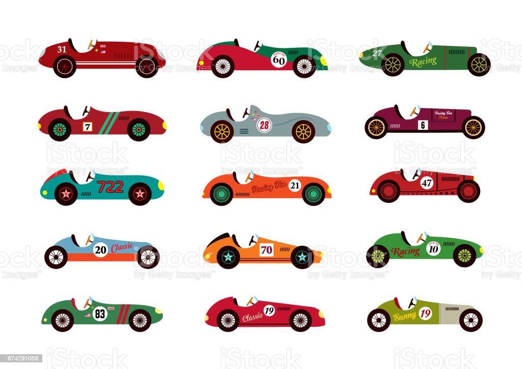 Vintage Racing Car Vector Stock Illustration - Download ... (1024 x 725 Pixel)