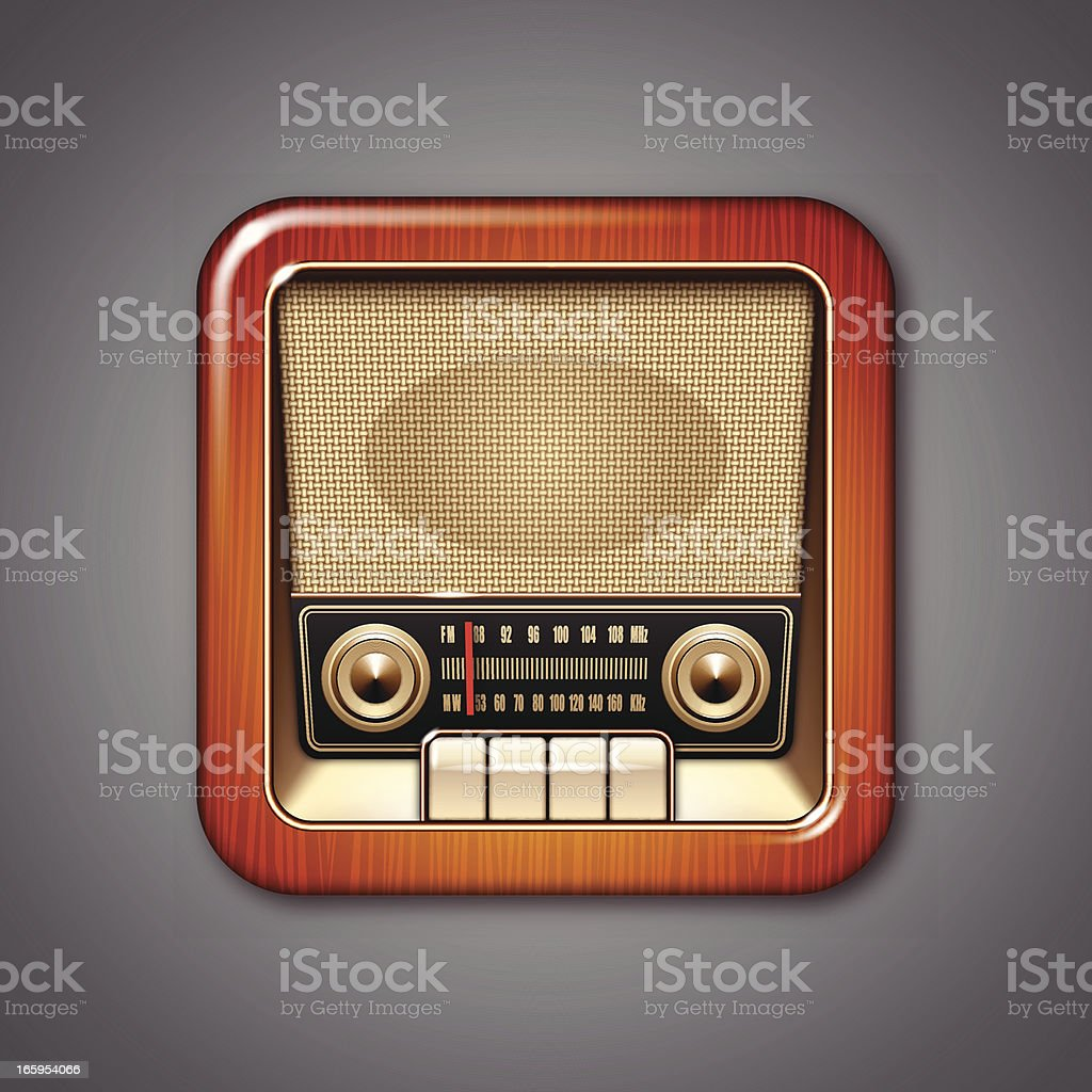 Vintage Radio Icon. royalty-free vintage radio icon stock vector art & more images of antique