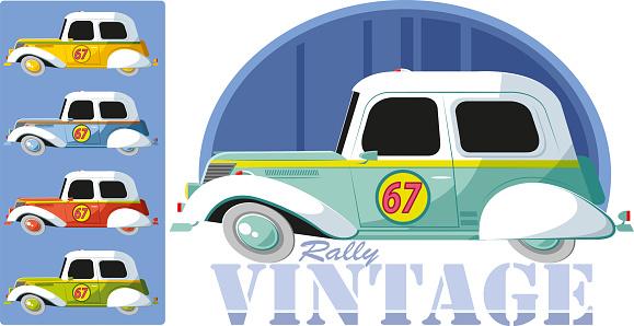 Vintage rally car
