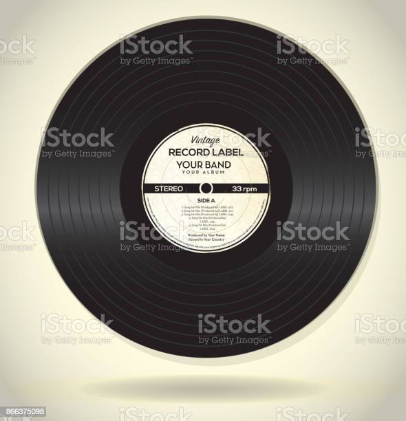 Vintage Record Label Design Template Stock Illustration Download Image Now Istock