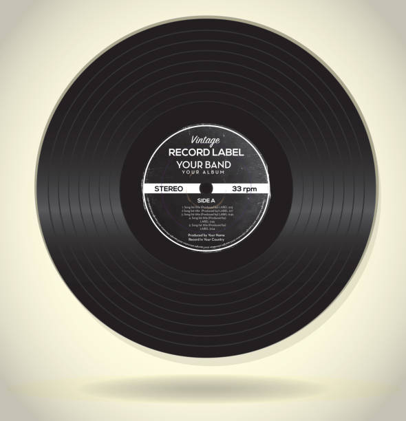 Best Vintage Record Illustrations, Royalty-Free Vector