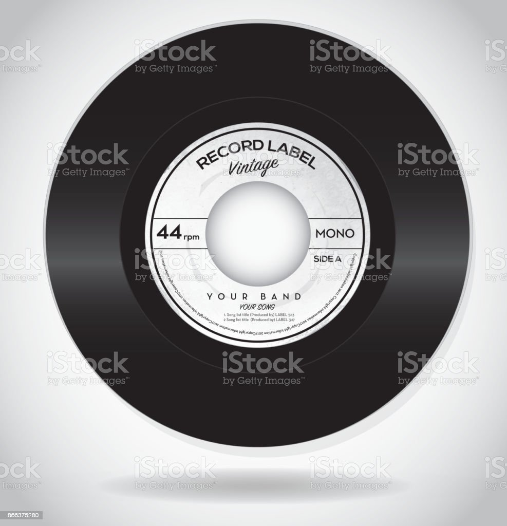 vintage record label design template stock vector art more images