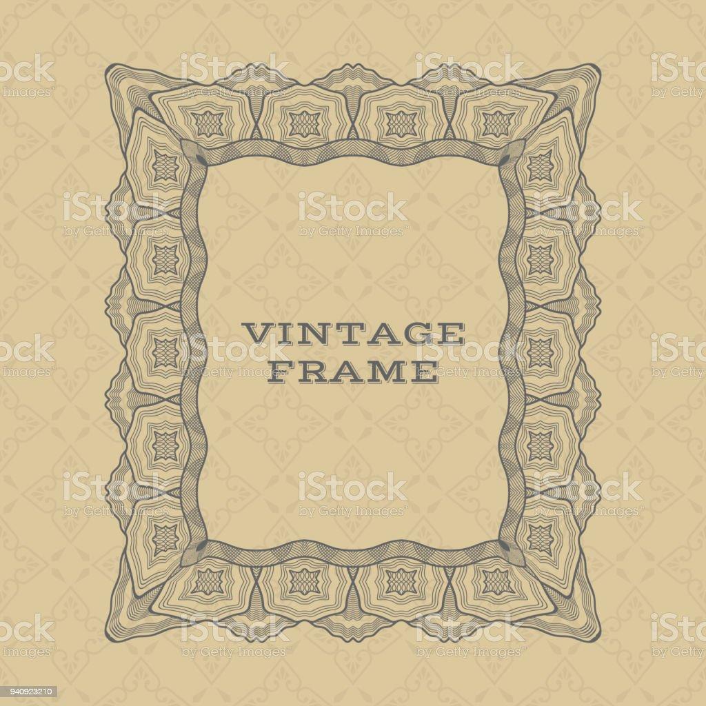 Vintage Rechteckigen Rahmen Stock Vektor Art und mehr Bilder von ...