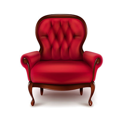 Vintage Red Armchair Stock Illustration - Download Image ...