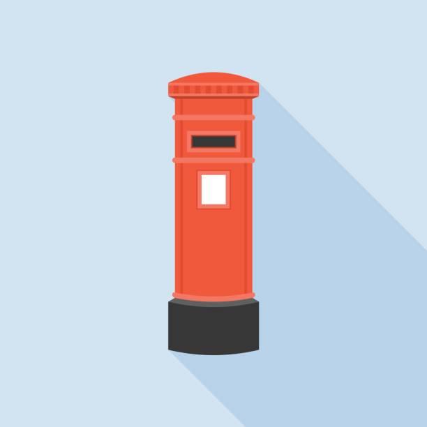 Vintage roten Mail Postfach Abbildung – Vektorgrafik