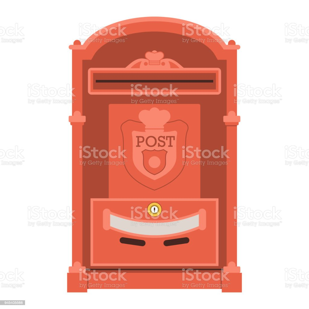Vintage Red Post Box Or Mailbox Icon Stock Illustration Download Image Now Istock