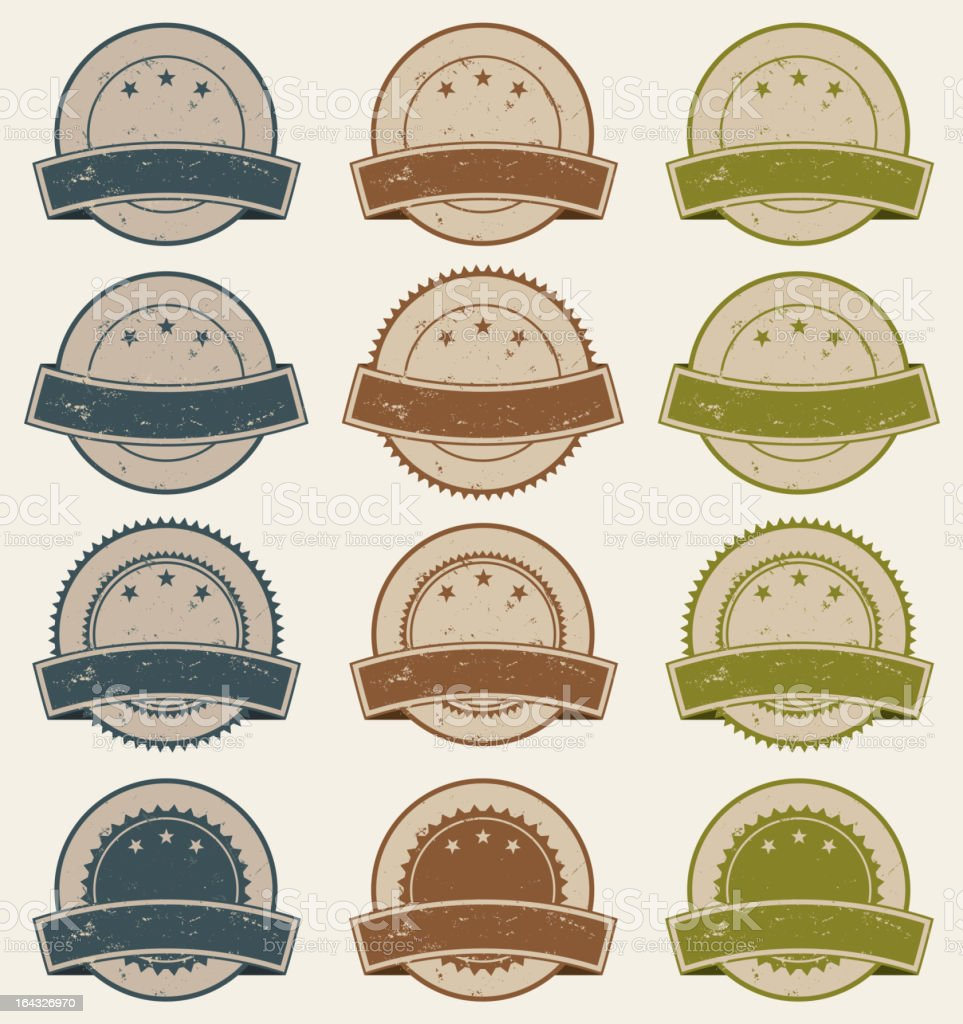 Vintage Retail Badges, Awards And Banners royalty-free stock vector art