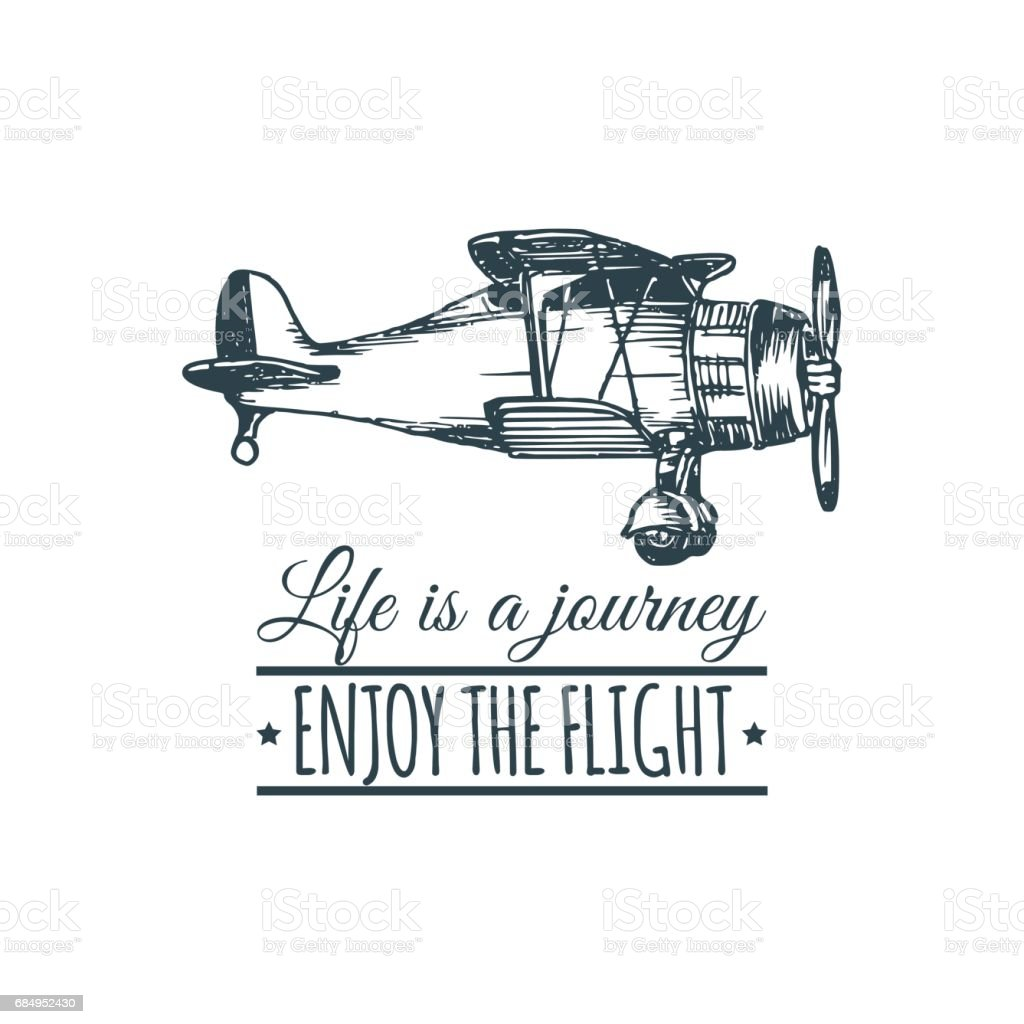 Vintage Retro Airplane Life Is A Journey Enjoy The Flight