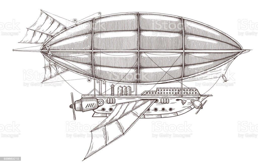 Steampunk Airship Stock Vector Illustration And Royalty Free Steampunk  Airship Clipart
