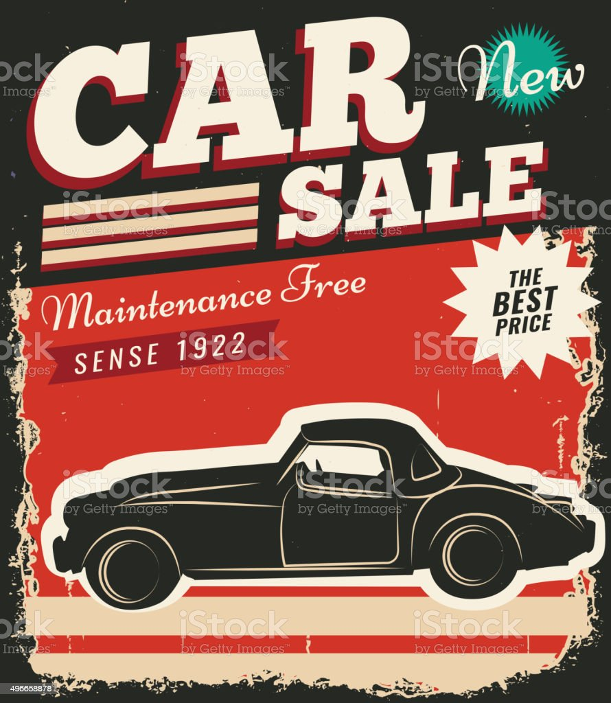 Vintage Retro Car stock vector art 496658878 | iStock