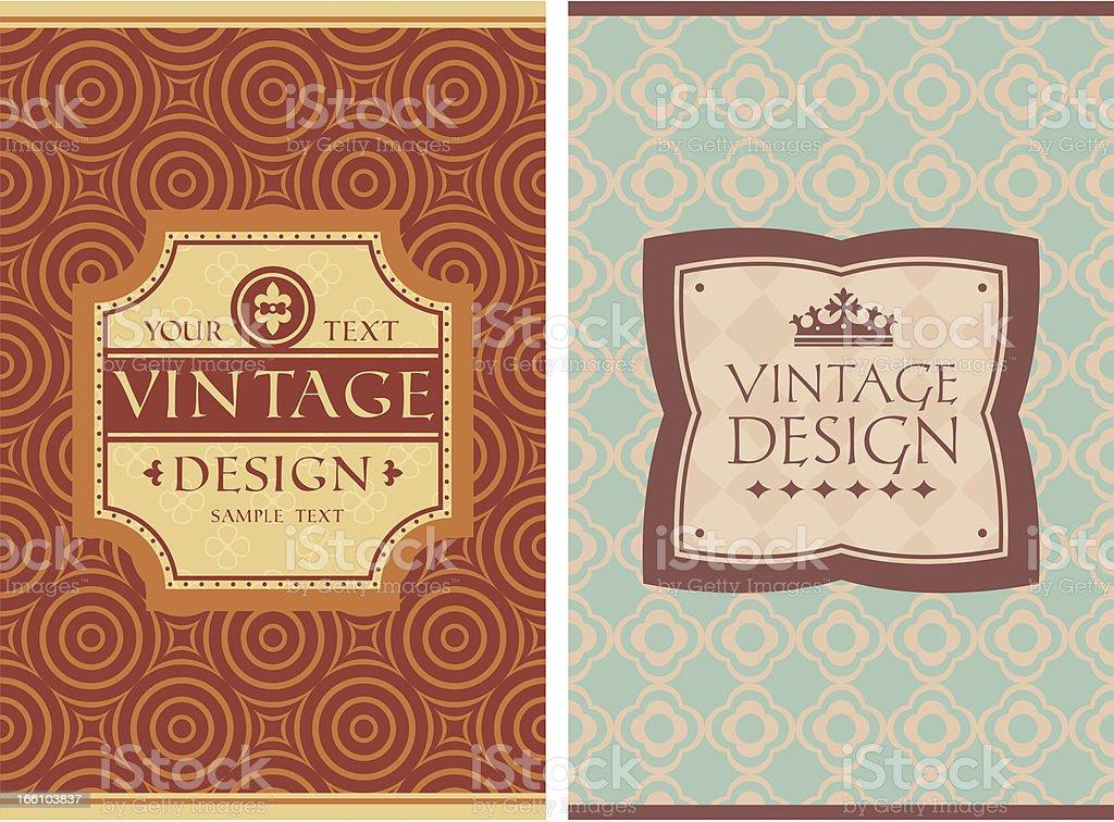 vintage retro cards royalty-free stock vector art