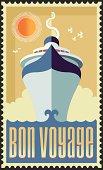 istock Vintage Retro Cruise Ship Vector Design 457796137