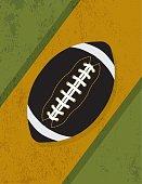 Vintage Retro Grunge American Football Background Illustration
