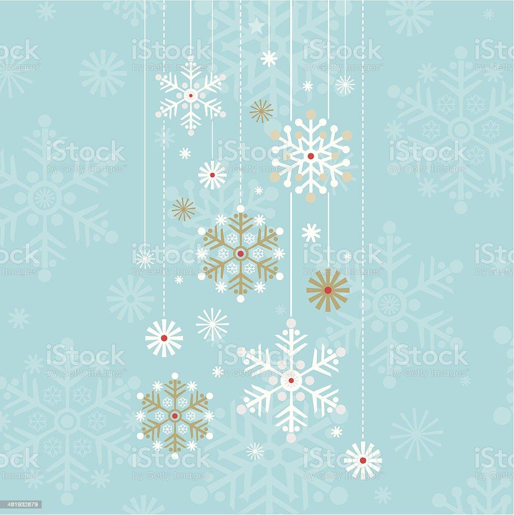 Vintage Retro Hanging Snowflake Design vector art illustration