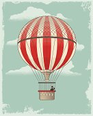 Vintage Retro Hot Air Balloon