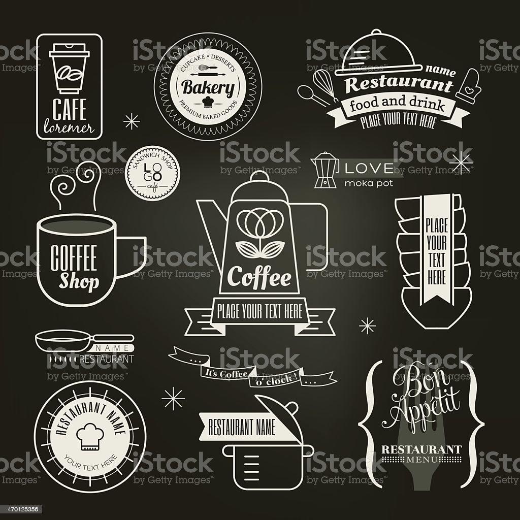 Vintage Retro Restaurant Cafe Logo Design Stock Illustration Download Image Now Istock