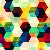 vintage rhombus seamless pattern with grunge effect