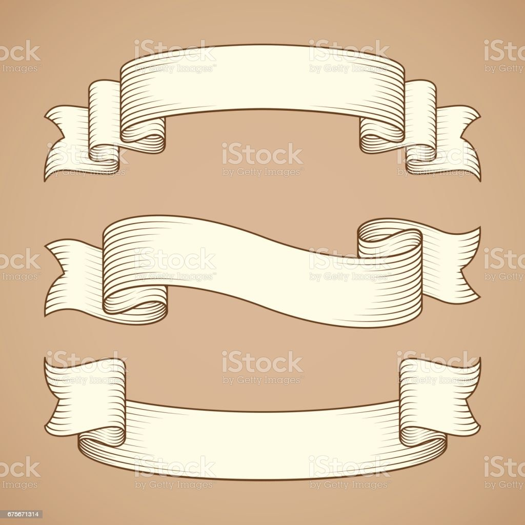 Vintage Ribbon Banners royalty-free vintage ribbon banners stock vector art & more images of art