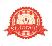 Simple Vintage Ristorante Label, layered and groupped, high res. jpg incl. Eps 10, transparency used. more related: