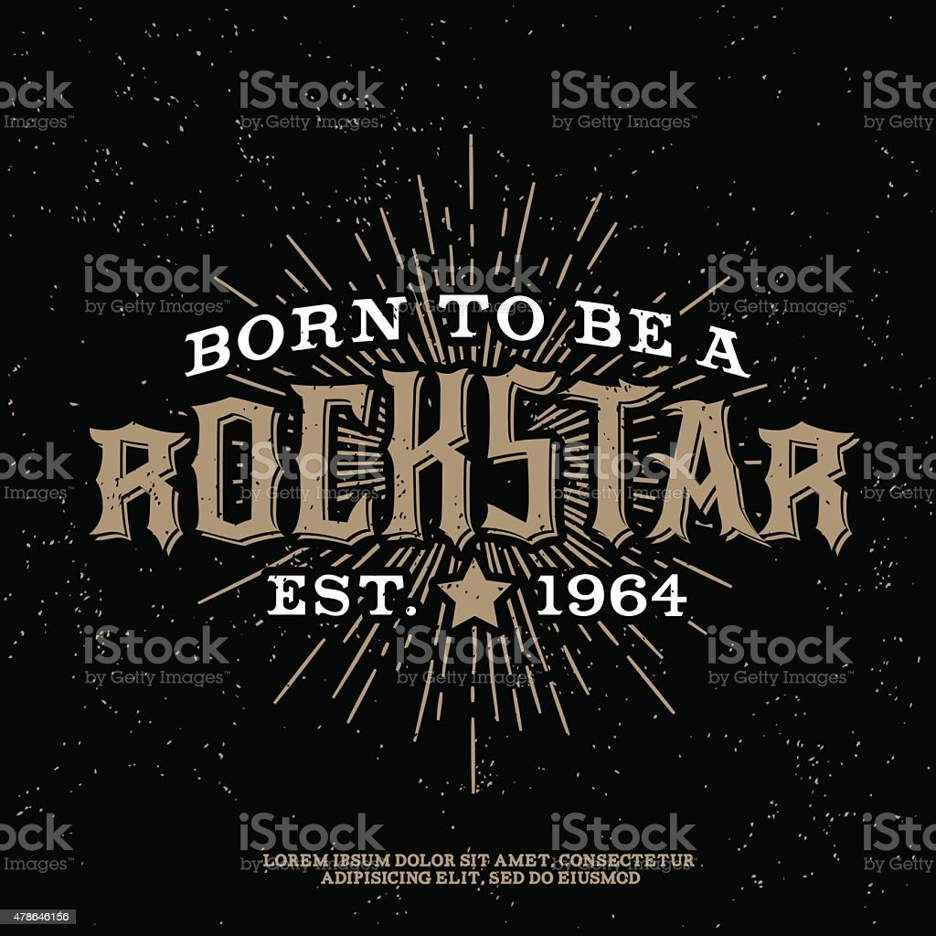 rock vintage etiqueta - ilustración de arte vectorial