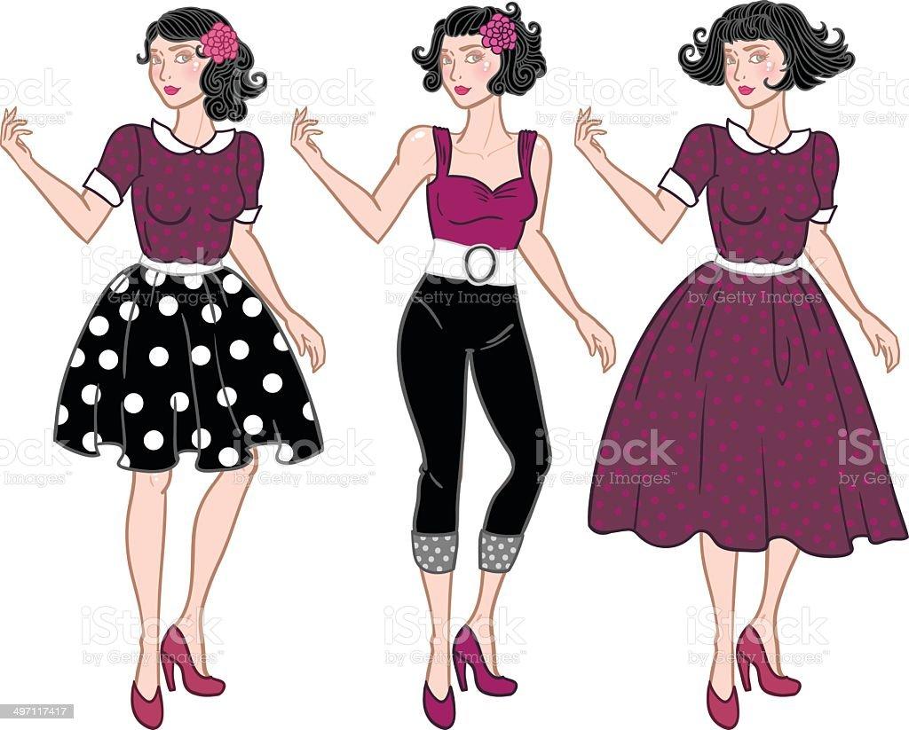 Vintage rockabilly girl royalty-free vintage rockabilly girl stock vector art & more images of 1940-1949