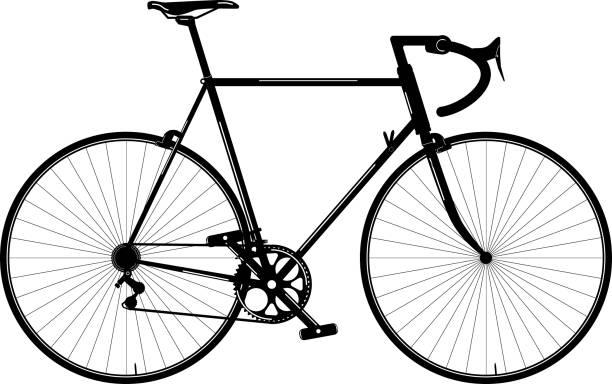 Vintage rode bike. Bike parts. Vector of Bicycle. vector art illustration