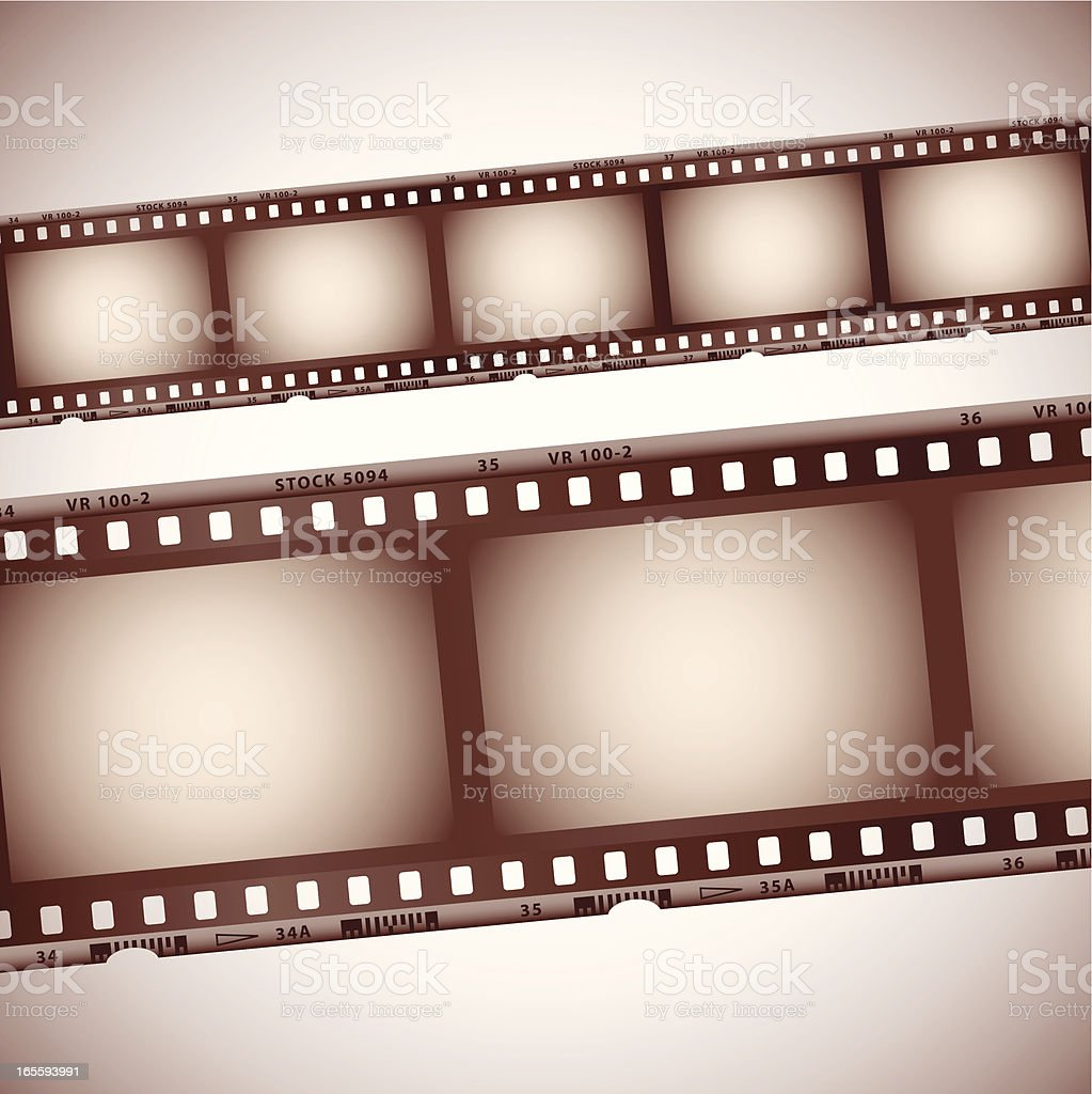 Vintage roll of 35mm film strips royalty-free stock vector art