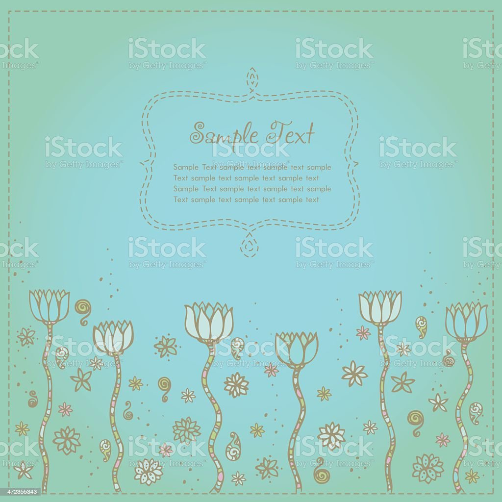 Vintage romantic background with lotus flowers royalty-free vintage romantic background with lotus flowers stock vector art & more images of antique