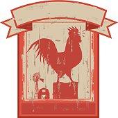 Vintage Rooster Sign
