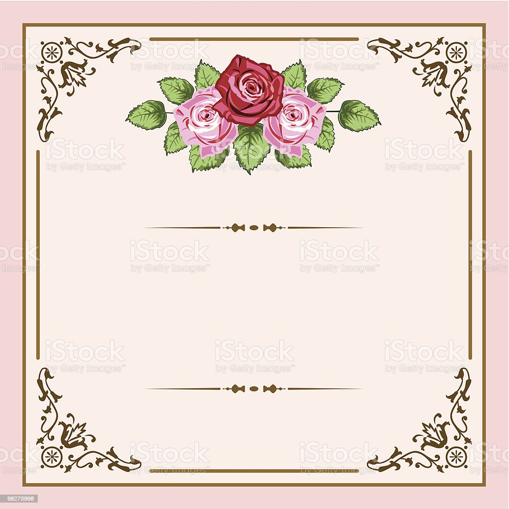 Vintage roses vector art illustration