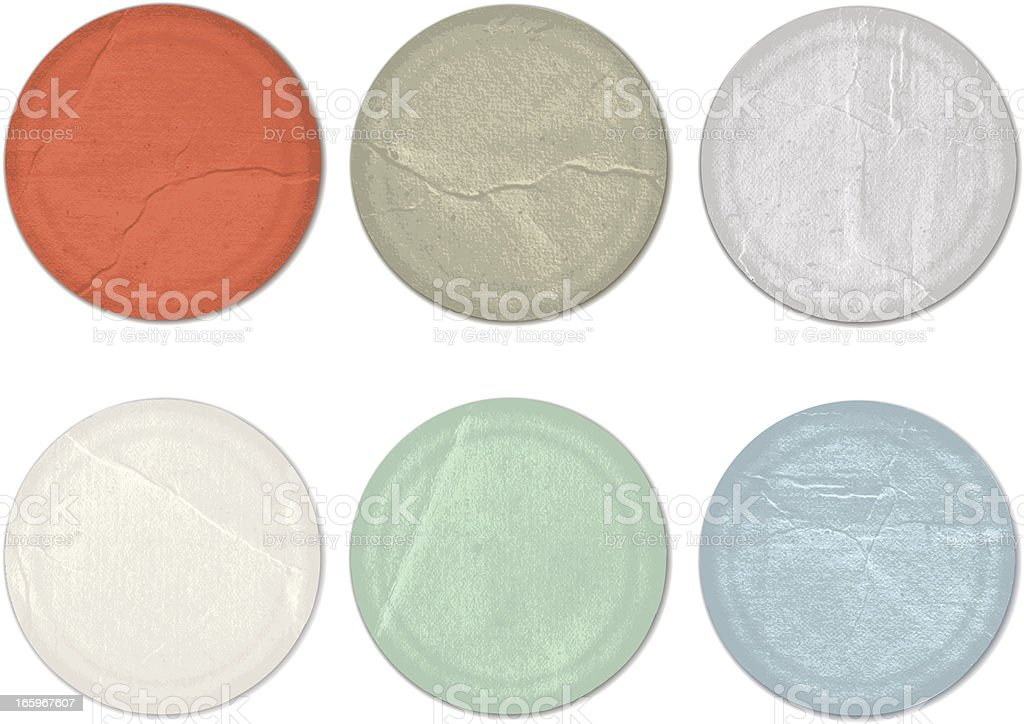 Vintage round labels royalty-free stock vector art
