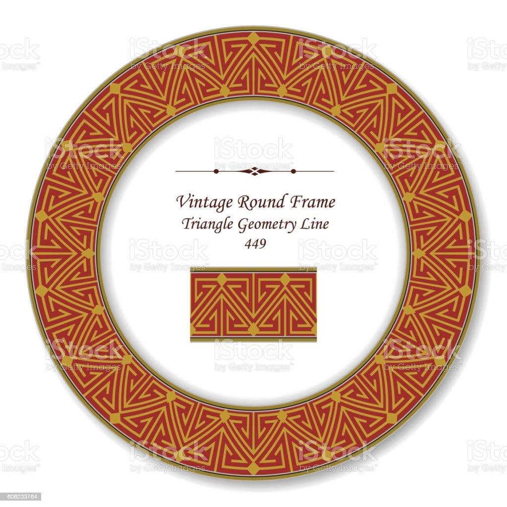 Vintage Round Retro Frame 449 Triangle Geometry Line royalty-free vintage  round retro frame 449