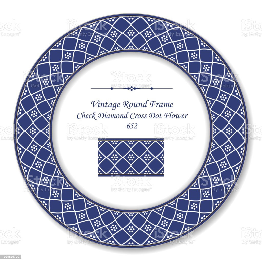 Vintage Round Retro Frame check diamond cross dot flower royalty-free vintage round retro frame check diamond cross dot flower stock vector art & more images of baroque style