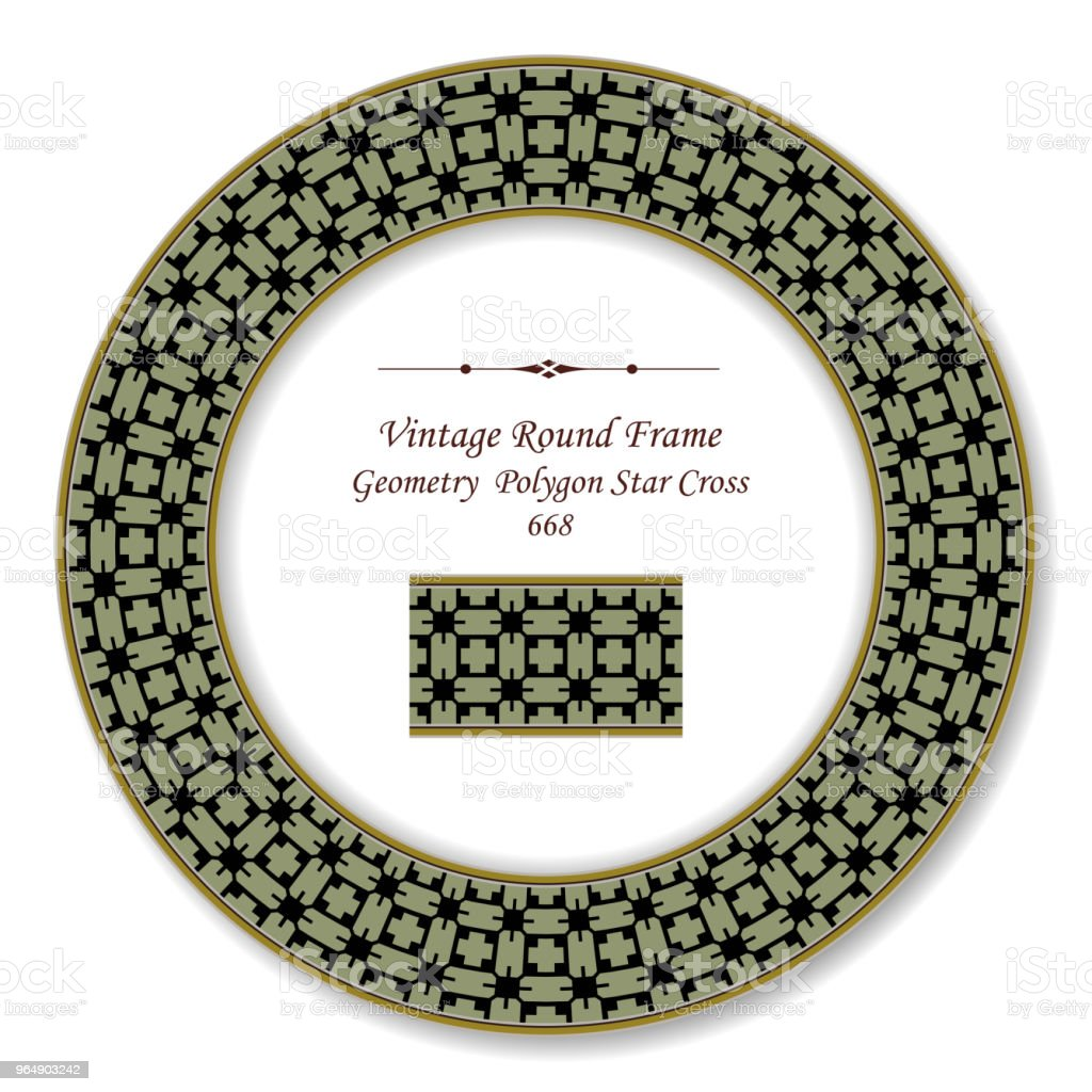 Vintage Round Retro Frame geometry polygon star cross royalty-free vintage round retro frame geometry polygon star cross stock vector art & more images of backdrop