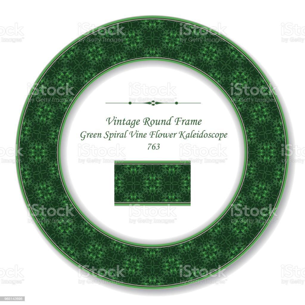 Vintage Round Retro Frame green spiral cross vine flower kaleidoscope royalty-free vintage round retro frame green spiral cross vine flower kaleidoscope stock vector art & more images of baroque style