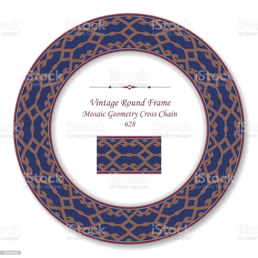 復古圓復古框架鑲嵌幾何十字鏈 - 免版稅一組物體圖庫向量圖形