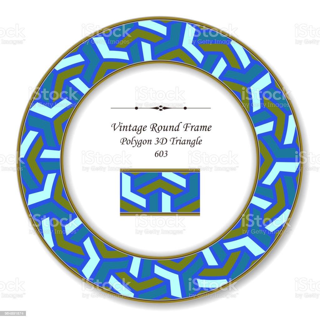 Vintage Round Retro Frame polygon 3D triangle cross royalty-free vintage round retro frame polygon 3d triangle cross stock vector art & more images of backdrop