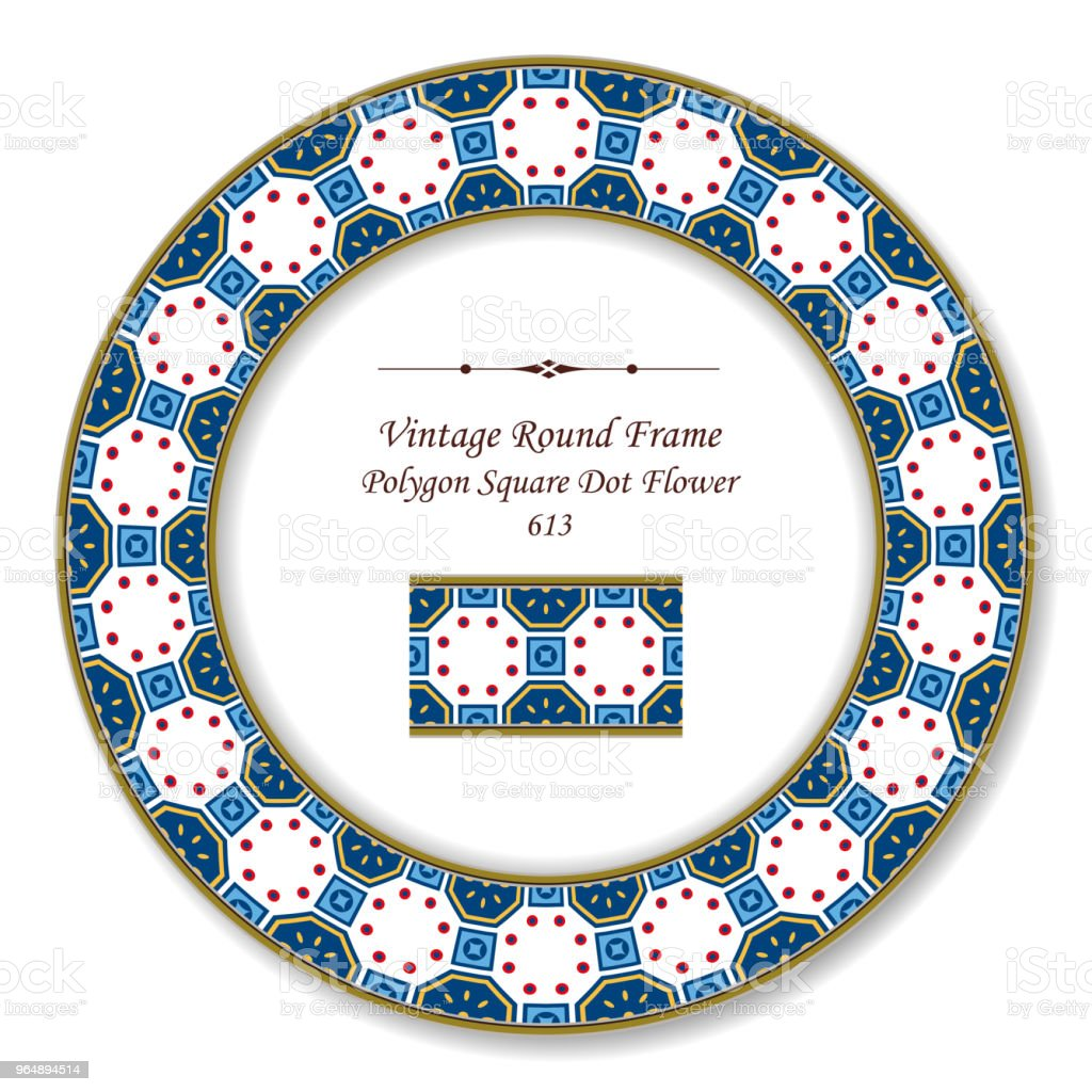 Vintage Round Retro Frame polygon square round dot cross flower royalty-free vintage round retro frame polygon square round dot cross flower stock vector art & more images of baroque style