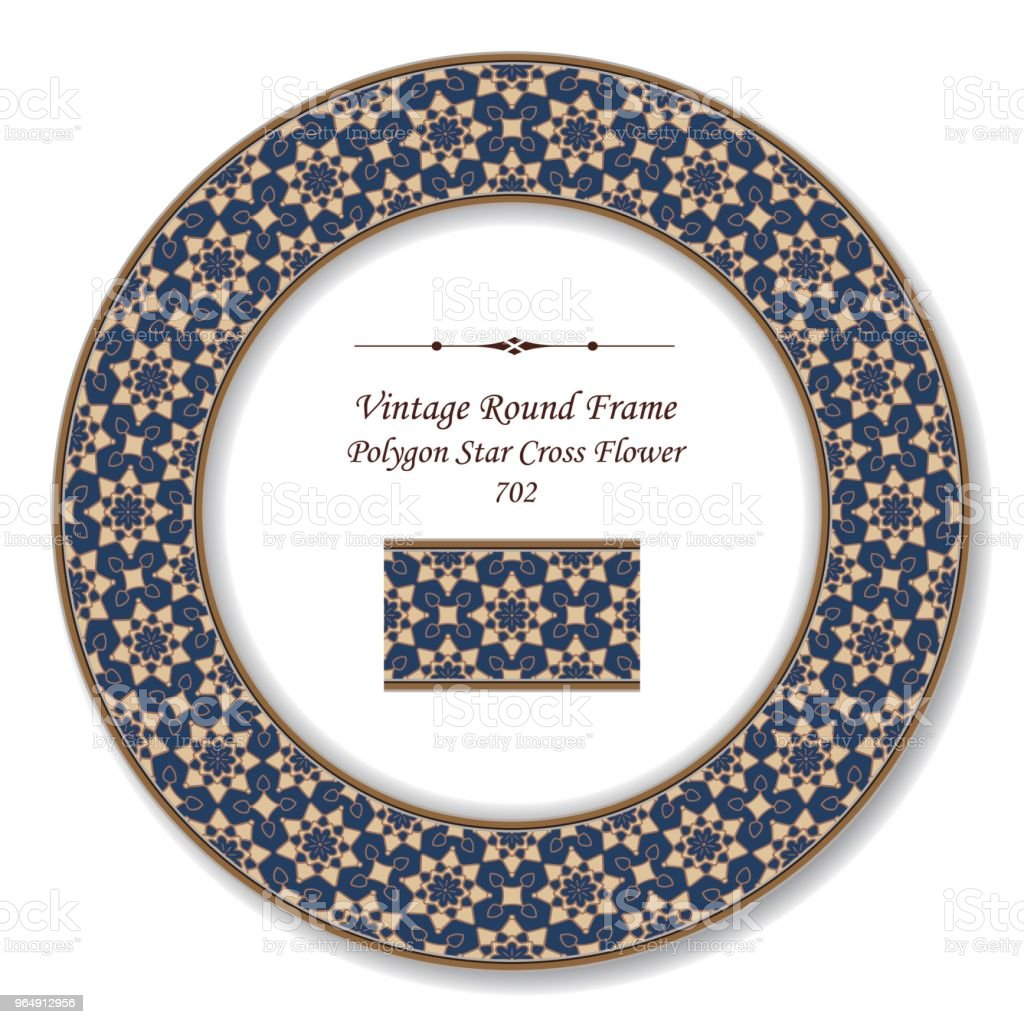 Vintage Round Retro Frame polygon star cross flower royalty-free vintage round retro frame polygon star cross flower stock vector art & more images of baroque style