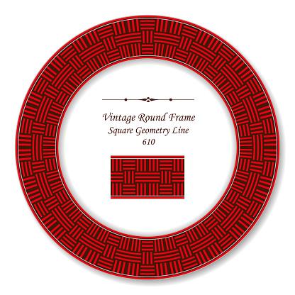 復古圓復古框架紅方幾何十字線向量圖形及更多一組物體圖片