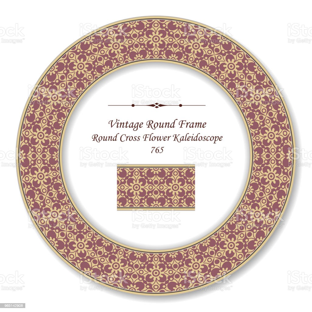 Vintage Round Retro Frame round curve cross flower kaleidoscope royalty-free vintage round retro frame round curve cross flower kaleidoscope stock vector art & more images of baroque style
