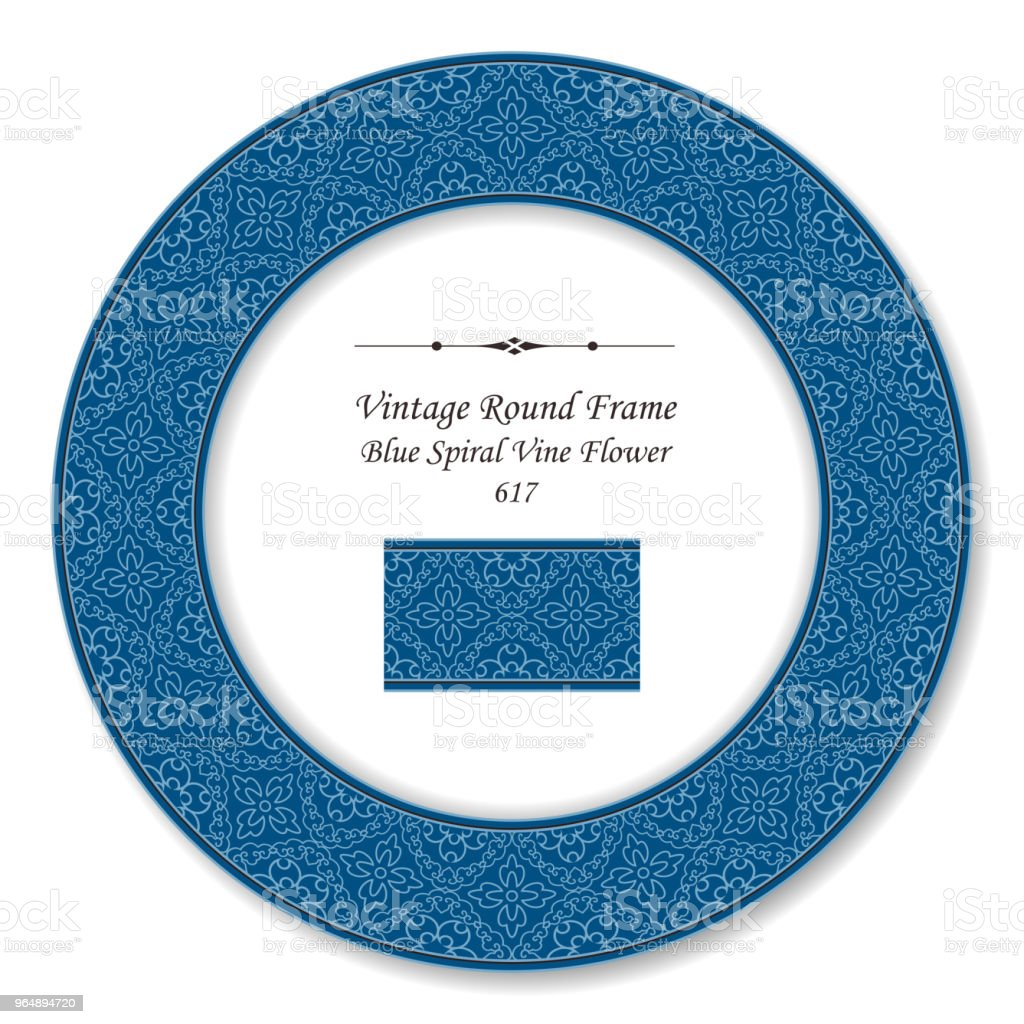 Vintage Round Retro Frame spiral curve cross vine flower royalty-free vintage round retro frame spiral curve cross vine flower stock vector art & more images of baroque style