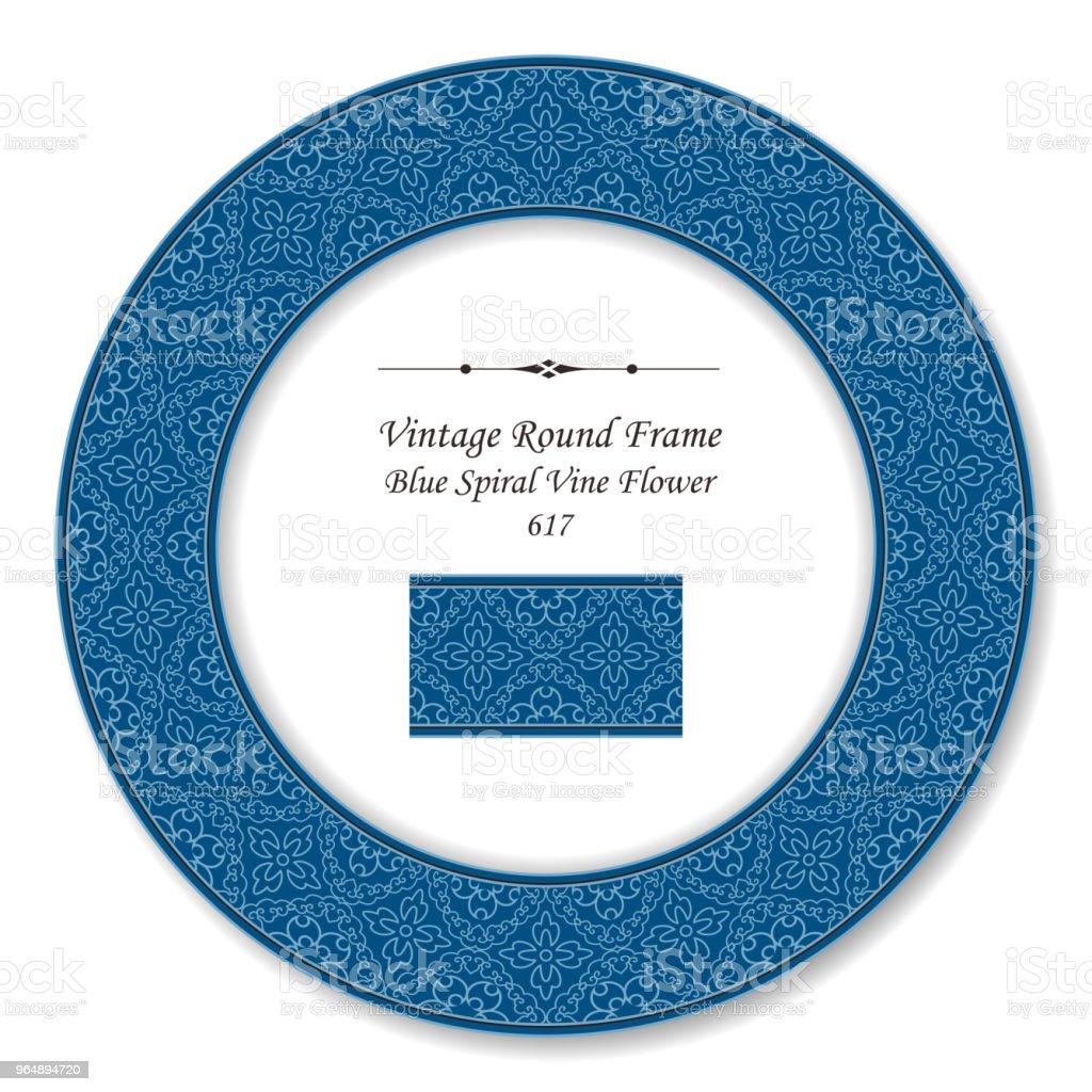 Vintage Round Retro Frame spiral curve cross vine flower royalty-free vintage round retro frame spiral curve cross vine flower stock vector art & more images of backdrop