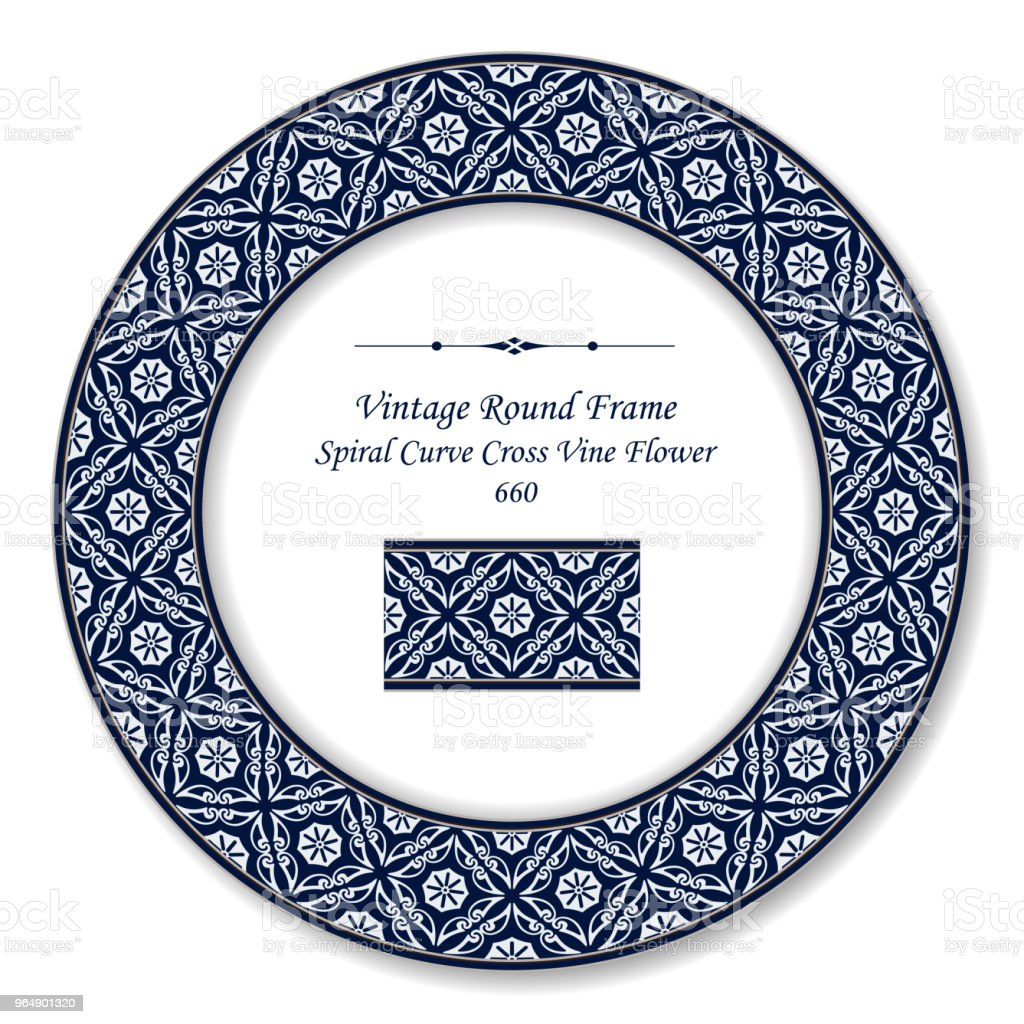 Vintage Round Retro Frame spiral curve cross vine flower royalty-free vintage round retro frame spiral curve cross vine flower stock vector art & more images of backdrop