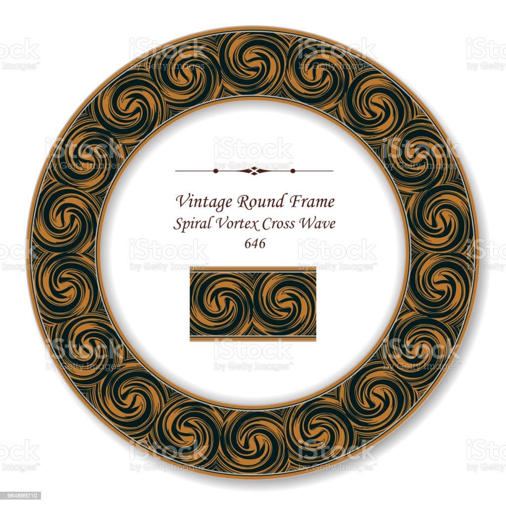 Vintage Round Retro Frame spiral vortex cross wave royalty-free vintage round retro frame spiral vortex cross wave stock vector art & more images of baroque style
